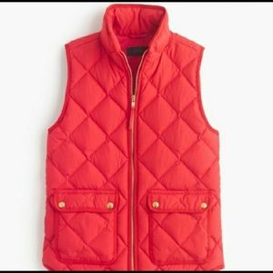 J. Crew Excursion Vest in Red (Poppy)